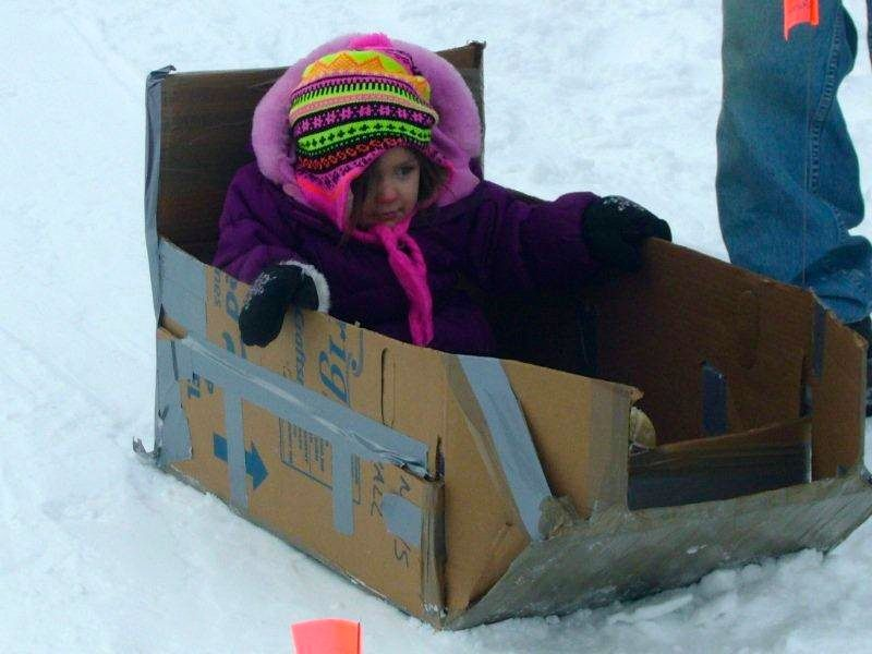 Our Grand Rapids Movers Help Host A Crazy Cardboard Sled